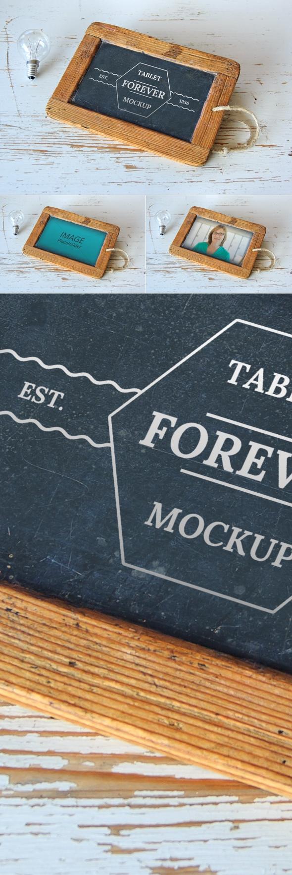 Free Tablet Forever Mockup PSD