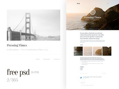 Free Web Design Tumblr PSD Template