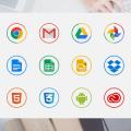 Free vector circle icons
