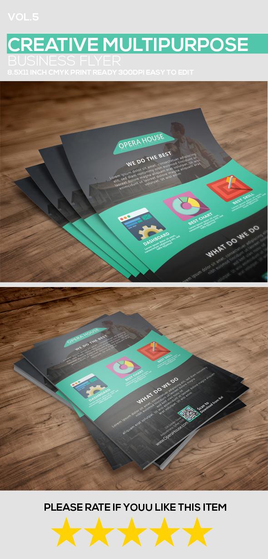 (FreeBie) Multipurpose Business Flyer PSD