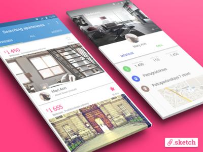 Material Design App [.sketch]