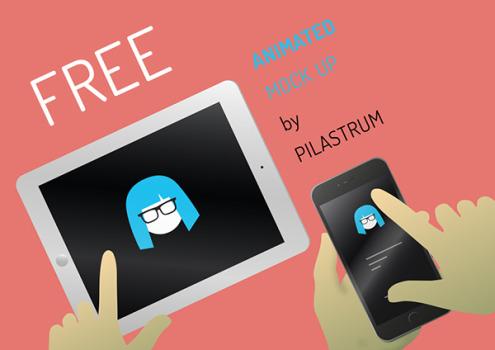 Animated iphone ipad Mock-up PSD Template