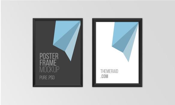 Poster Frame Mockup PSD Template