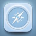Safari IOS Icon Free PSD