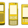 Vector Older Phones