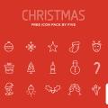15 Vector Halloween & Christmas icons (Ai, .PDF and .EPS File)