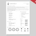 CV Resume Template Vector AI