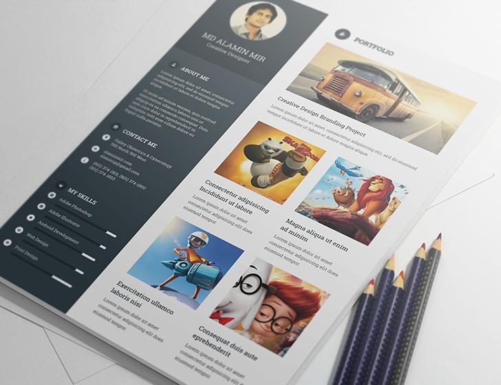 Creative & Modern Resume Template PSD