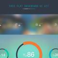 Flat Dashboard UI Kit PSD