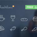 Food icons PSD
