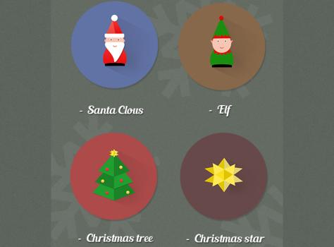 Free Christmas Icons : Santa Clous, Elf, Tree,star