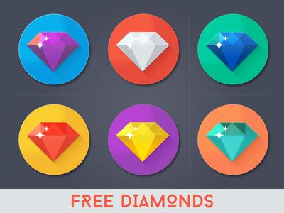 Free Diamond Icons PSD