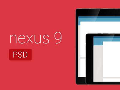 Free Nexus 9 PSD Mockup
