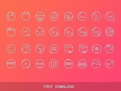 Free Vector Iine Icons
