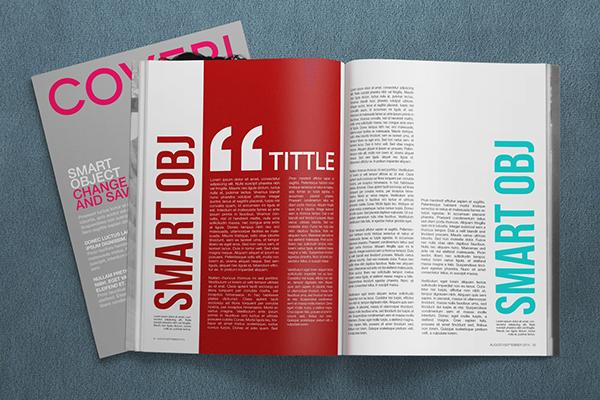 Freebie 4K Magazine Mockup PSD Template