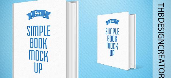 Simple Book Mockup PSD Template
