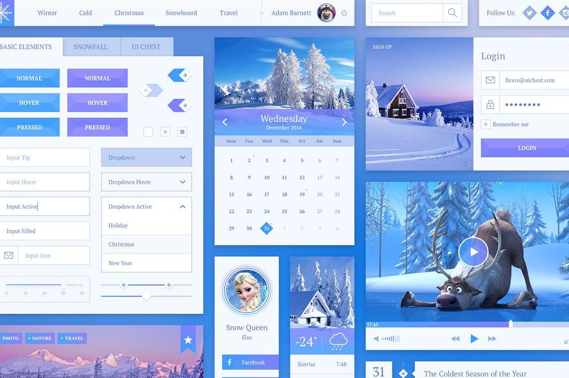 Snowflake UI Kit PSD