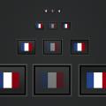 The French Flag PSD Frame Freebie