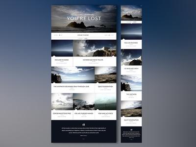 Web  & Mobile Responsive Blog Free PSD