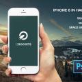 iPhone 6 in Hand PSD Mockup Template Freebie