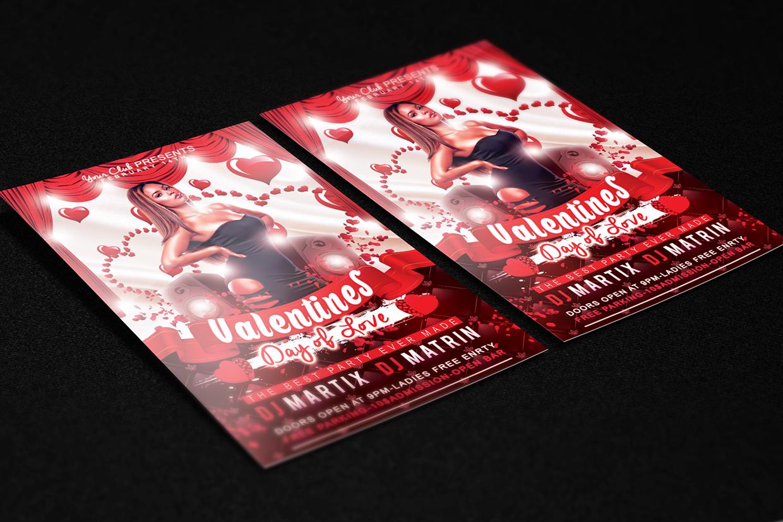 2015 ValentineDay Flyer Free PSD Template