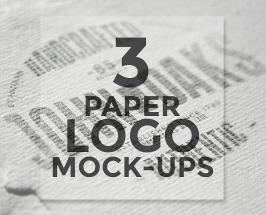 3 Paper Logo Mock-Ups Free PSD Download