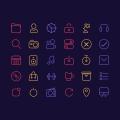 30 Line Icons For iOS UI Design
