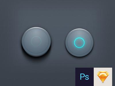 Button PSD & Sketch Download