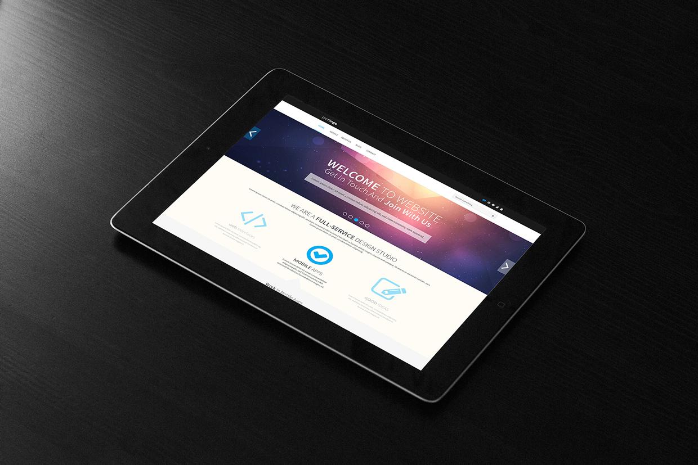 Creative One Page portfolio PSD web template Free