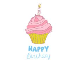 Free Birthday Cupcake vector