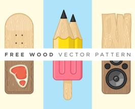 Free Customizable Texture Wood Vector Pattern