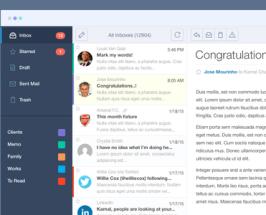 Free PSD Mail App UI Design
