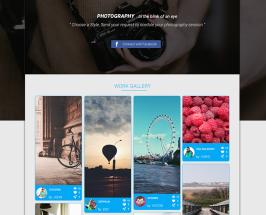 Free PSD Template Photography Social Platform