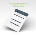Free Resume Template - Material Design
