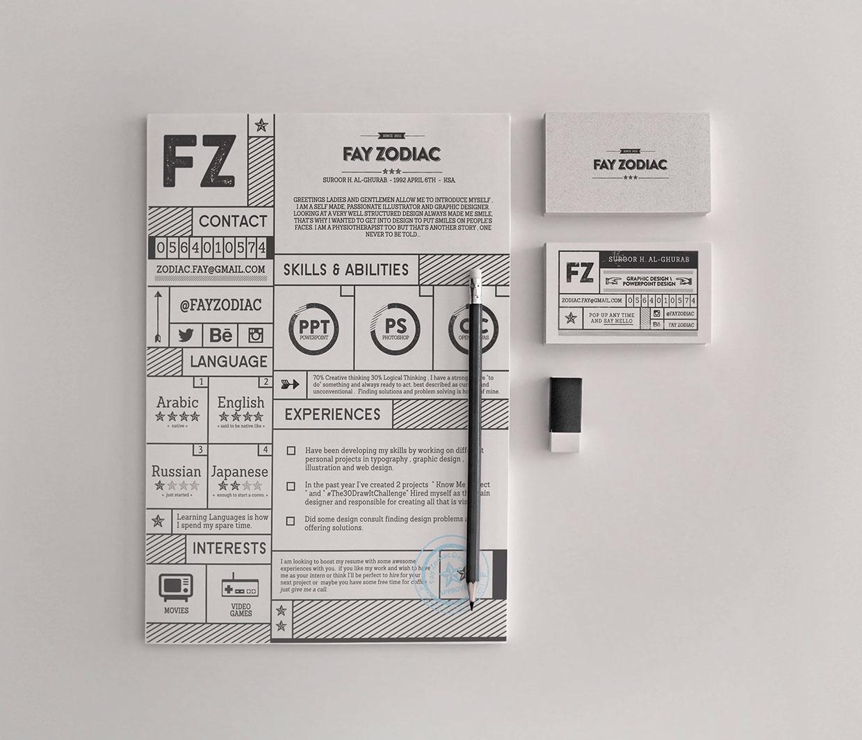 Free Retro Resume Template PSD Download