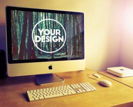 Free iMac Psd Mockup Template