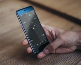 Mobile Phone Dark Homescreen UI Sketch