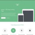 PSD Mobile App Landing Page Template Theme