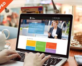 Tech Website Template Free PSD