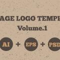 Vintage Logo Templates Pack (PSD Vector AI EPS)