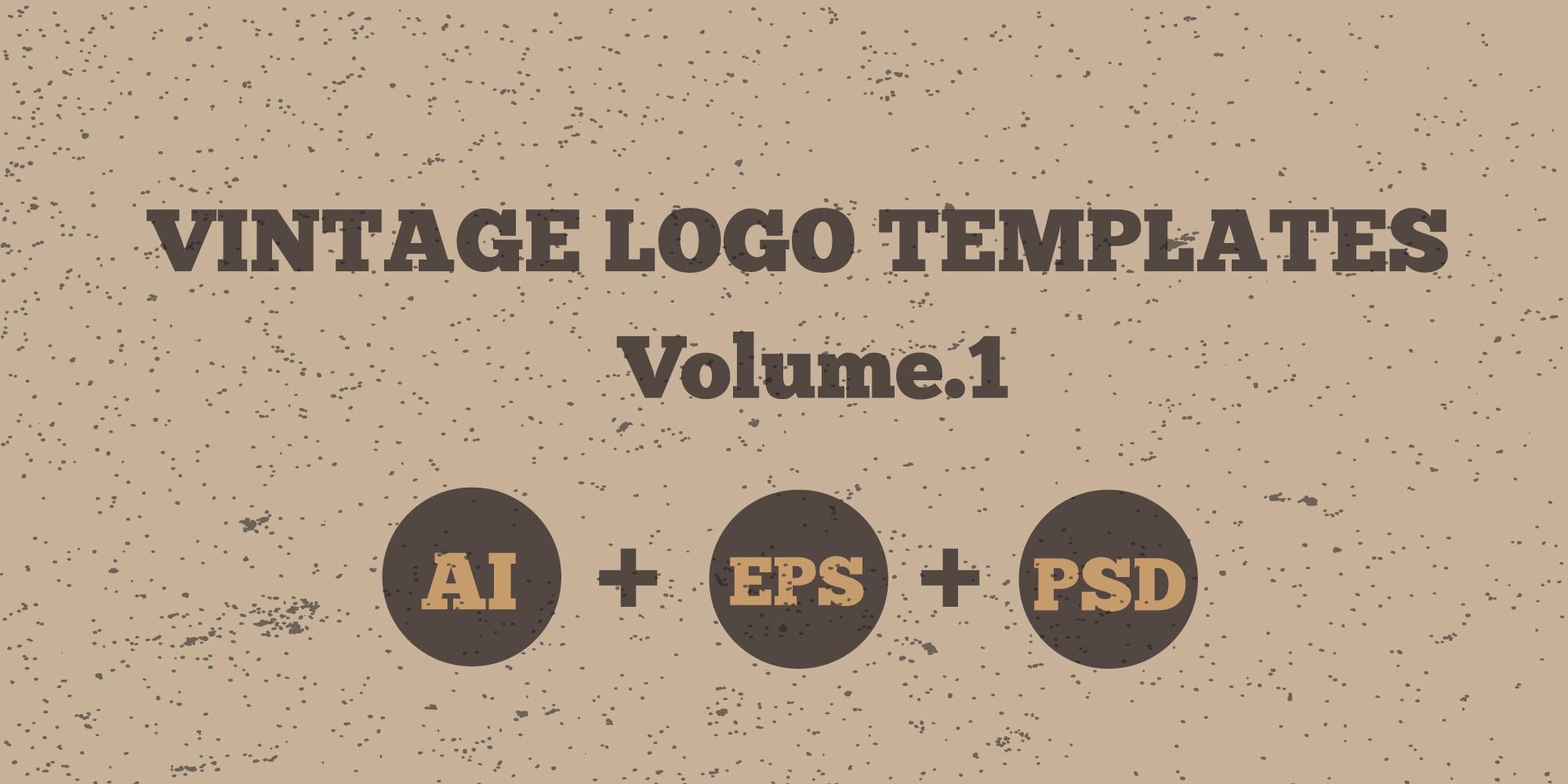 Vintage Logo Templates Pack PSD Vector AI EPS