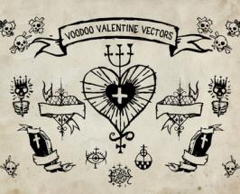 Voodoo Vector Valentines Day Vector Elements