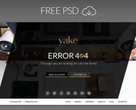 Yake 404 Error Page UI (2 Theme) PSD