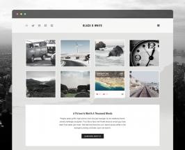 Black & white – Free PSD template