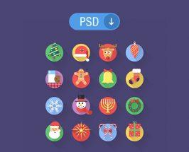 16 PSD Christmas icons